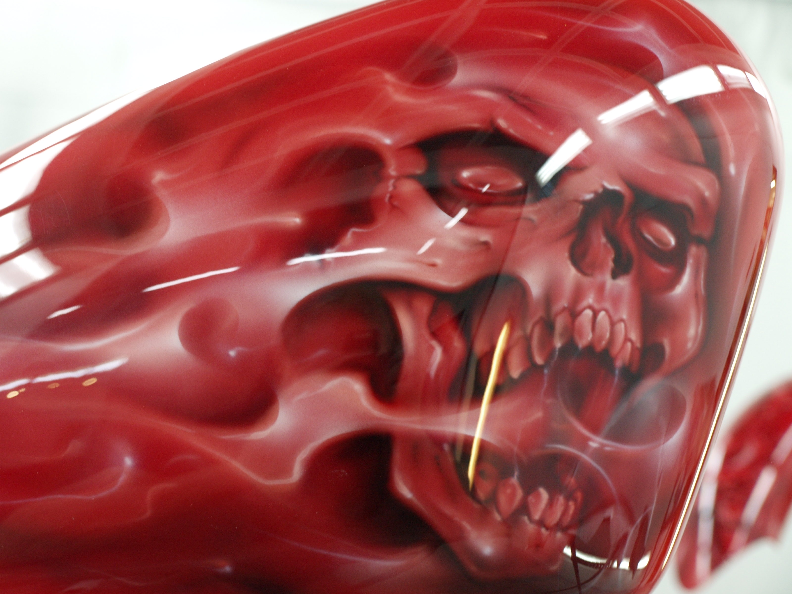 Bloodred Ghost Skull Harley Custom Paint