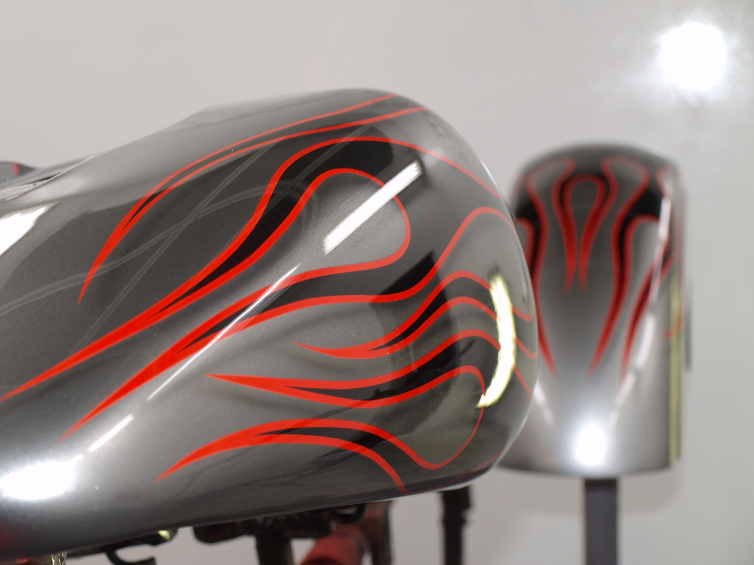 Custom Paint Harley Davidson Tank Oldschool Flames